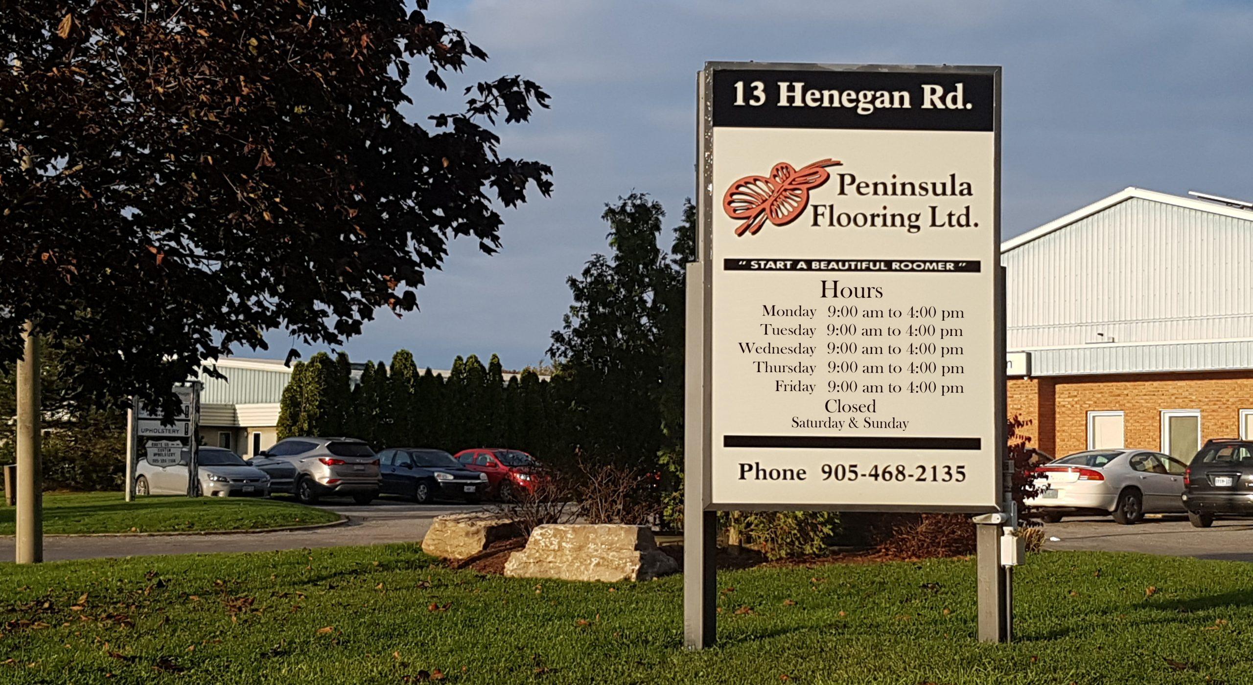 Peninsula Flooring Hours - Hours July 13 2021 - 9-4